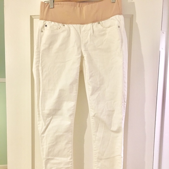 14c0c1a779061 GAP Pants | Maternity Mid Panel White Skinny Jeans | Poshmark